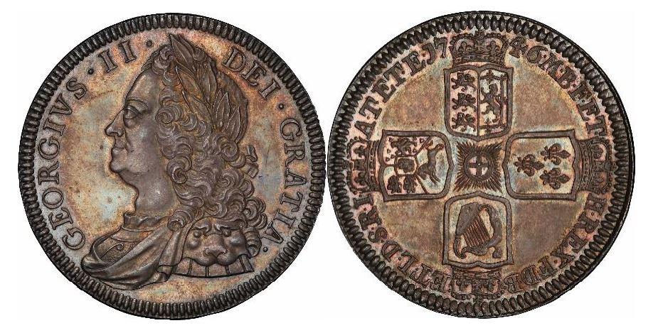 Großbritannien. George II. Silver Crown. 1746. PCGS PR64. KM# 585.2.