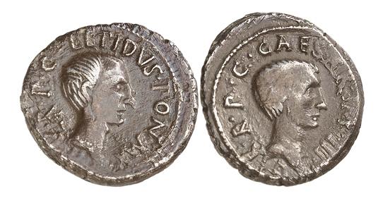 Römische Republik. M. Aemilius Lepidus und Octavianus. Denar, 43, italische Lagermünzstätte. Sehr selten. Aus der Sammlung eines hanseatischen Römerfreundes. Sehr schön. Taxe: 300,- E   uro