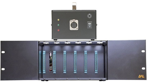 BAE 500-Series 6-Space Rack with 48V Power Supply