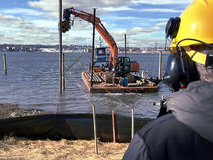 work boat, dock construction, dredging, pumping, pier construction, wharf install, high noise, osha