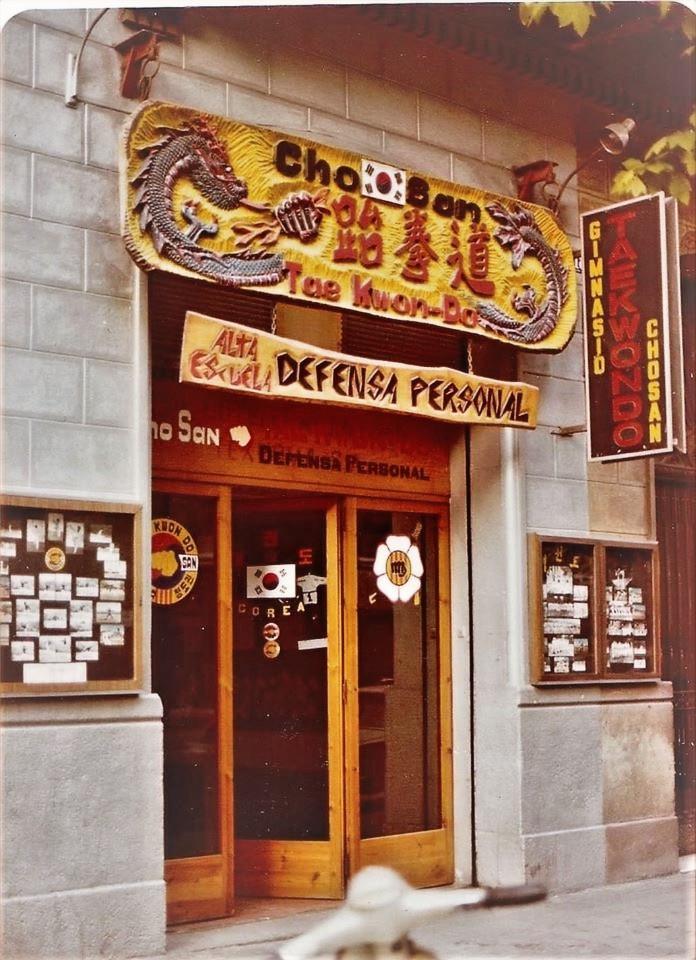 Escuela Cho San, en Barcelona (1975)