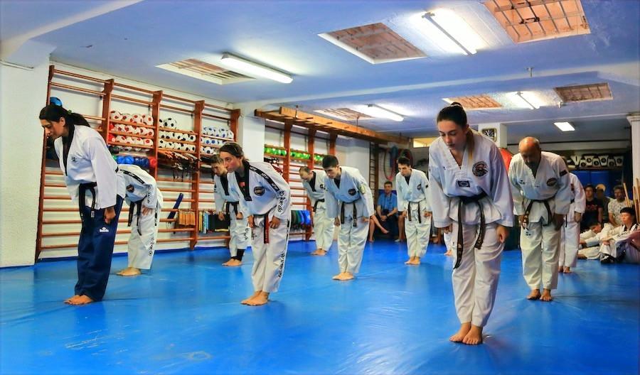 Chariot, el saludo tradicional en la práctica del Taekwondo.