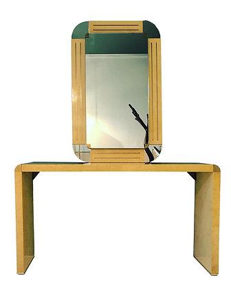 Italian Console and Mirror by Turri