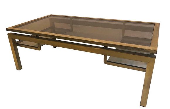 Brass Coffee table by Guy Lefevre
