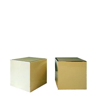Pair of Pierre Vandel Lacquered pedestals