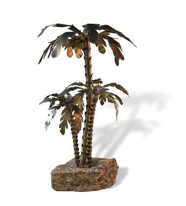 Brass Palm tree Lamp by Paul Plaitsier