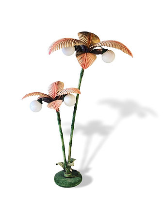 Italian Toleware Palmtree Lamp