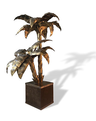 Brass Palm Tree Lamp by Maison Jansen