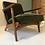 Thumbnail: Pair of Oak & Teal Danish lounge Chairs