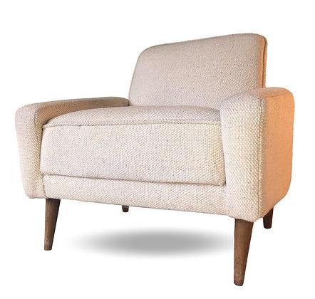 Italian Lounge Chair in Boucle Wool