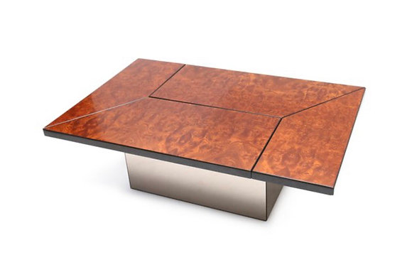 Hidden Bar Coffee Table for Roche Bobois by Paul Michel