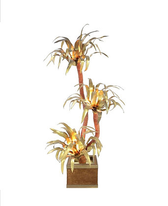 Brass Palm Trer Floor lamp by Maison jansen