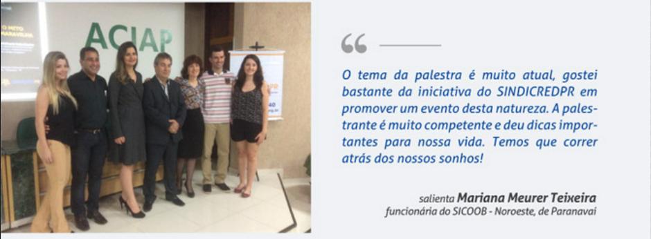 Palestra promovida pelo SindicredPR em Paranavaí