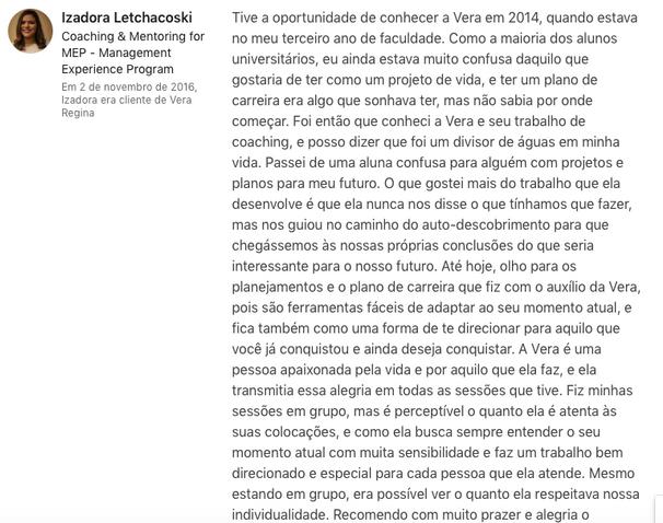 Izadora Letchacoski - Aluna FAE Curitiba