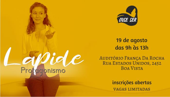 Escola OUSE SER, Lapide workshop PROTAGONISMO