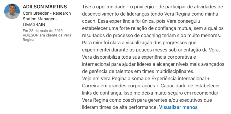 Adilson Martins - Coaching Individual por skype