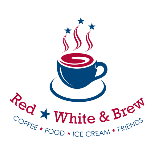 Red, White & Brew Logo Design