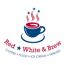 Red, White & Brew Logo Design