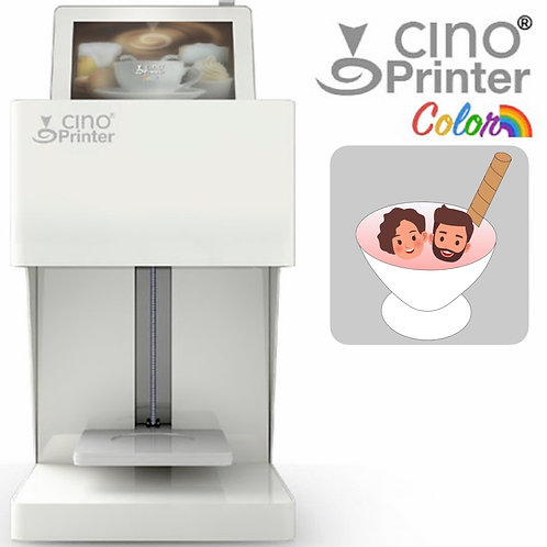 Cino Printer Color - White - including one cartridge