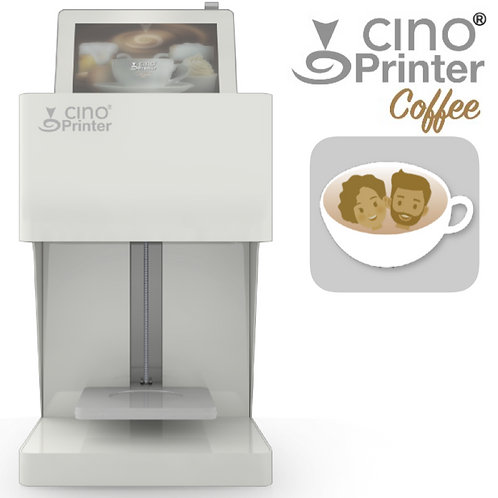 Cino Printer Coffee - White - including one cartridge