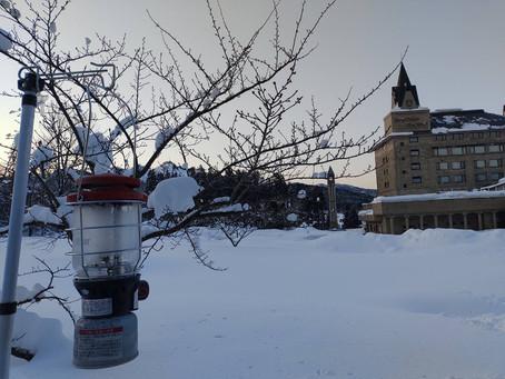 週末限定!リゾートホテルの真ん前で雪中キャンプ