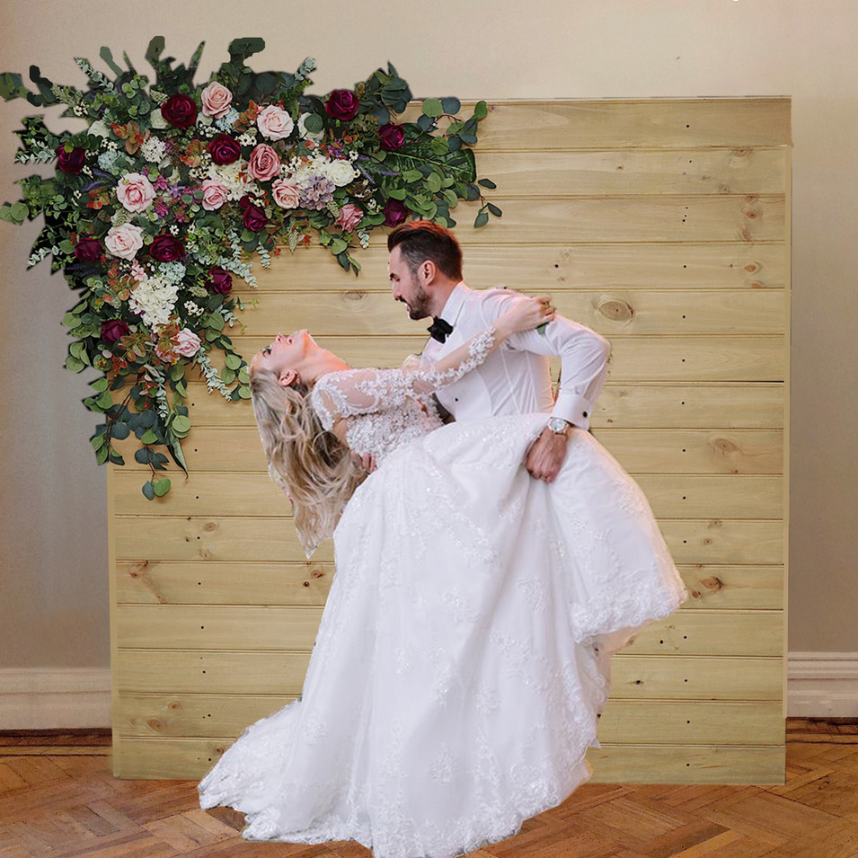Rustic Wood with Floral Backdrops