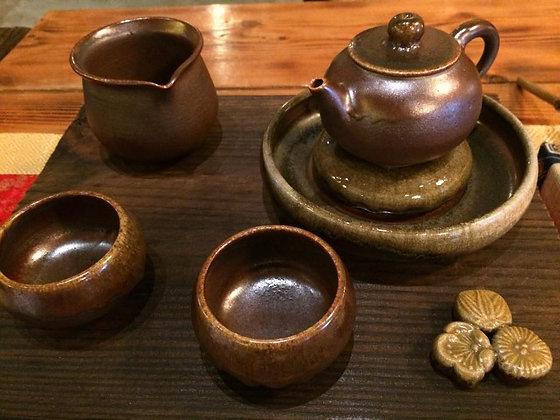 藏福藏韻藏原萃.柴燒茶具組