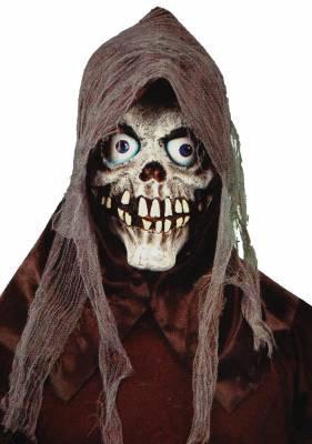 Mascara Morte Caveira c/ Teia e Capuz