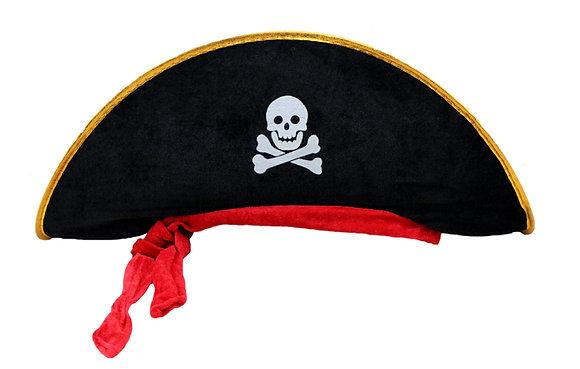 Chapeu Pirata Lenço Vermelho