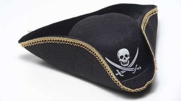 Chapeu Pirata 3 pontas