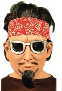 Mascara Homen Hippie c/ Cabelo Latex