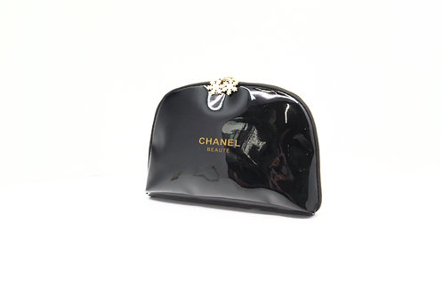 Chanel Makeup Pouch in Black Patent Leather