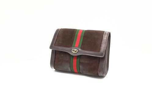 Gucci Sherry-Line Pouch in Suede