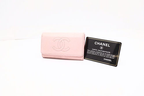 Chanel Timeless Line Key Case in Pink Caviar Leather