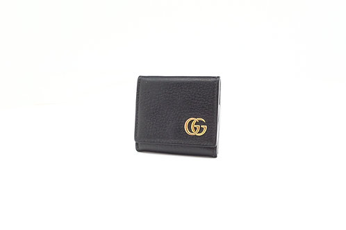 Gucci GG Marmont Coin Case in Black Leather