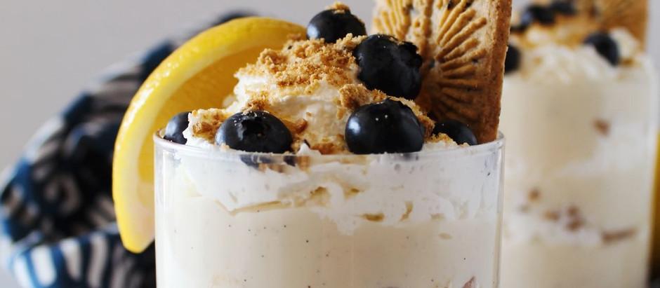 Lemon Blueberry Parfait Vanilla Puddings