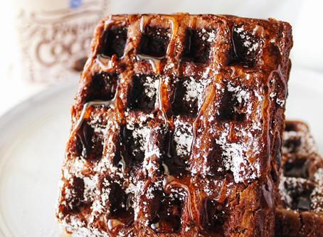 Chocolate Brownie Waffles Recipe