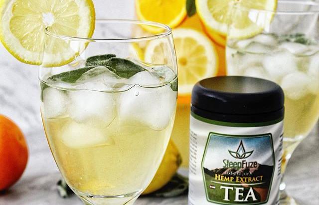 CBD Infused Green Sage Tea Lemonade