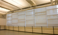 Studio 1 with blinds closed