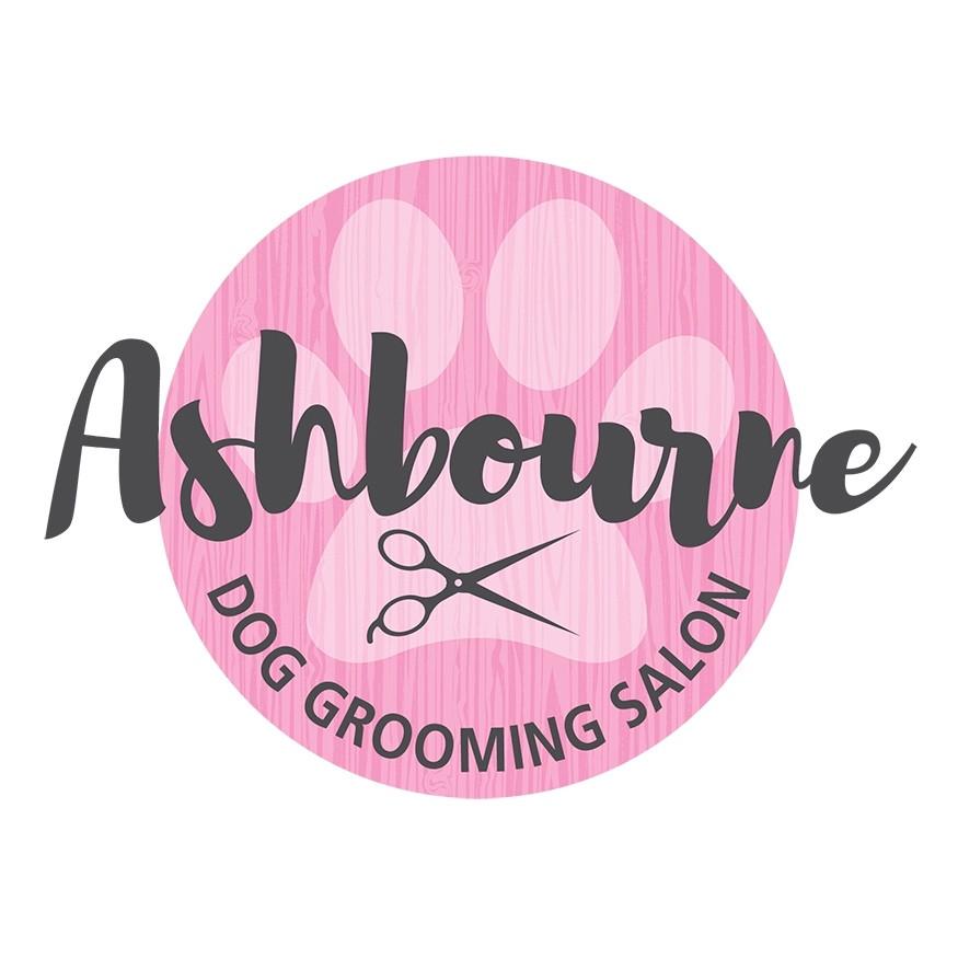 Ashbourne Dog Grooming Salon Logo Graphic Design