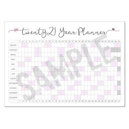 2021 calendar – purple