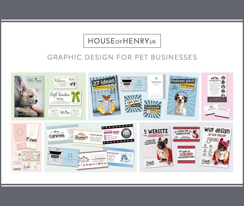 Graphic design for pet businesses