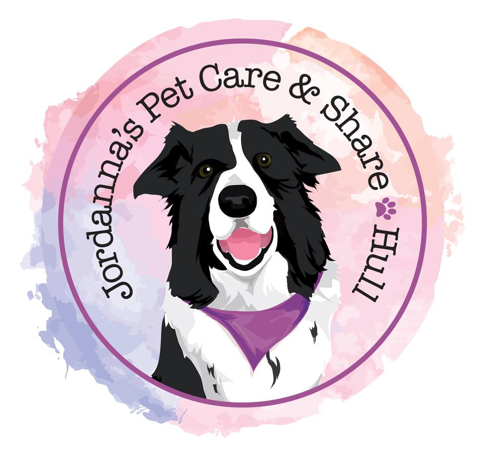 Jordannas Pet Care & Share Dog Walking Logo Graphic Design
