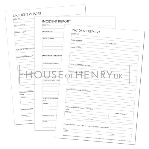 incident report form (with hole punch margin)
