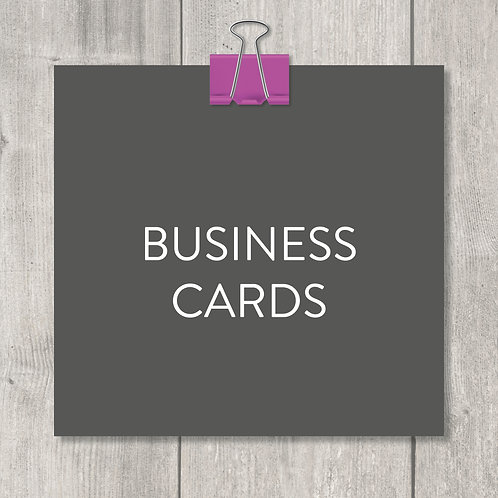 business cards – design, print and delivery