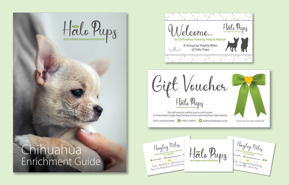 Halo Pups Graphic Design