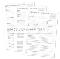 Veterinary Release Form