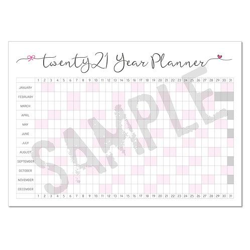 2021 calendar – pink
