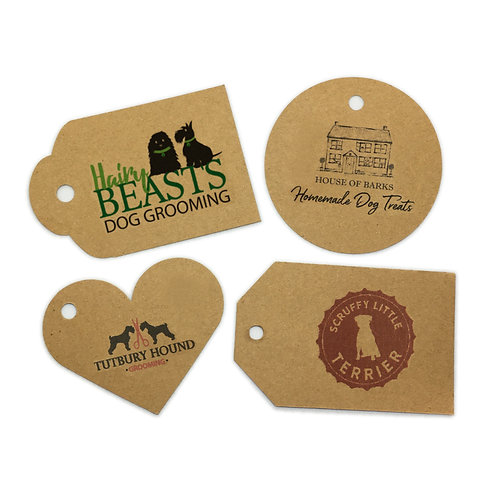 Kraft card single-sided swing tags (pack of 50)