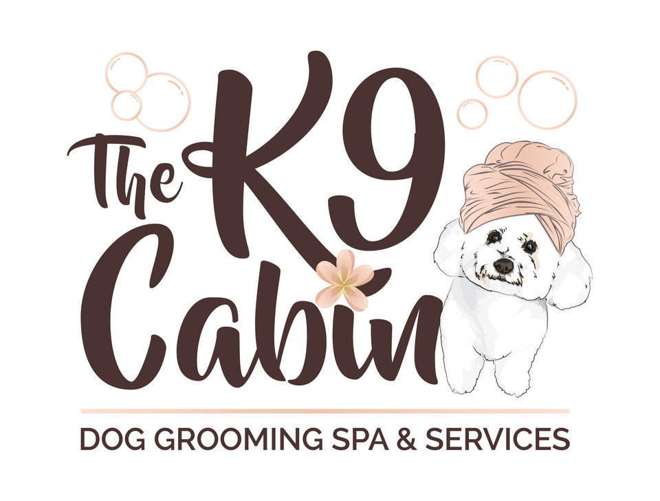 The K9 Cabin Dog Grooming Spa Logo Graphic Design